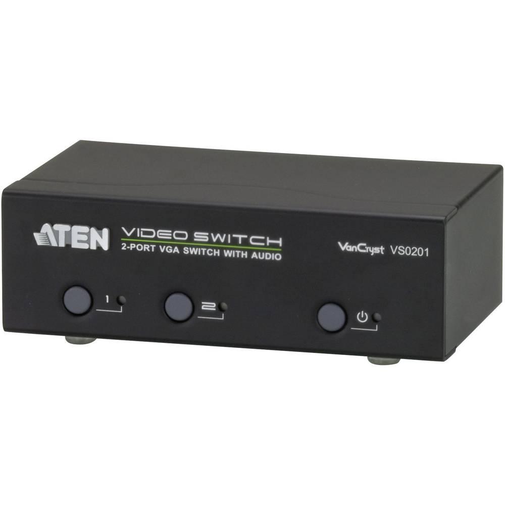 2 Port VGA-stikalo 1920 x 1440 Pixel ATEN srebrn VS0201