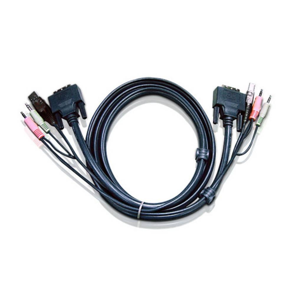 KVM priključni kabel [1x DVI-vtič 18+5pol. - 1x DVI-vtič 18+5pol.] 3 m črn ATEN