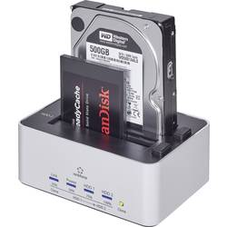 USB 3.0 Harddisk-dockingstation Renkforce rf-docking-07 SATA 2 porte med Clone-funktion