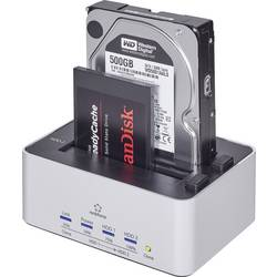 USB 3.0 HDD-dockningsstation Renkforce rf-docking-07 SATA 2 Port med kloningsfunktion
