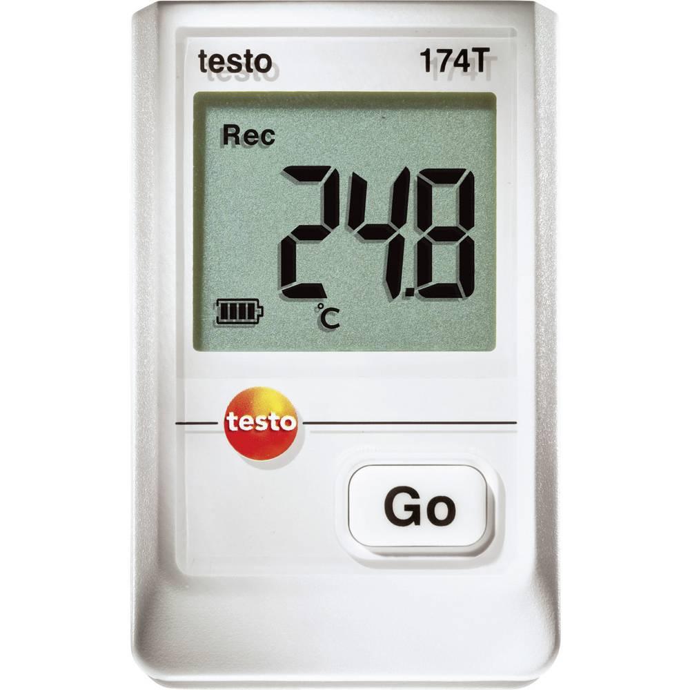 Zapisovalnik podatkov o temperaturi testo 174T merjenje temperature -30 do 70 °C kalibracija narejena po delovnih standardih