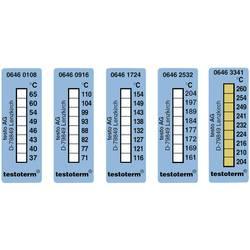 Trake za mjerenje temperature testo testoterm 204 do 260 °C