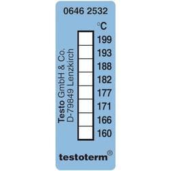 Temperaturni merilni trakovi testoterm 161 do 204 °C