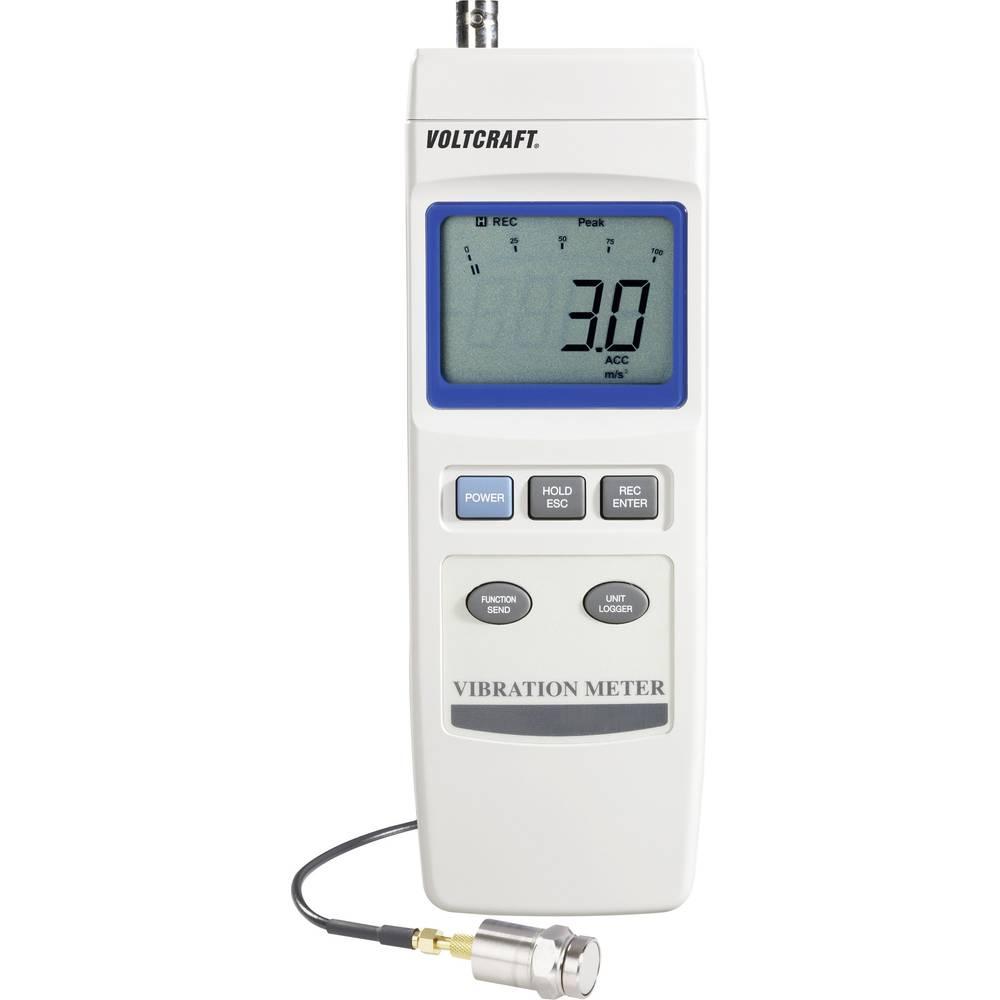 VOLTCRAFT VBM-100 merilnik vibracij, zapisovalnik podatkov ± 5 % 0.5 - 199.9 mm/s; 0.05 - 19.9 cm/s; 0.02 - 7.87 inch/s k