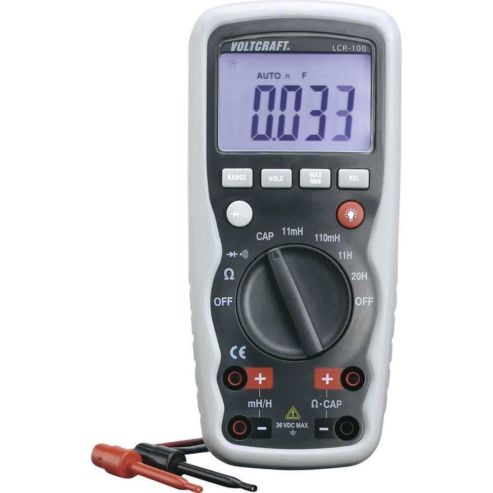 Multimetar za mjerenje komponenti VOLTCRAFT LCR-100 kalibriran prema: tvorničkom standardu