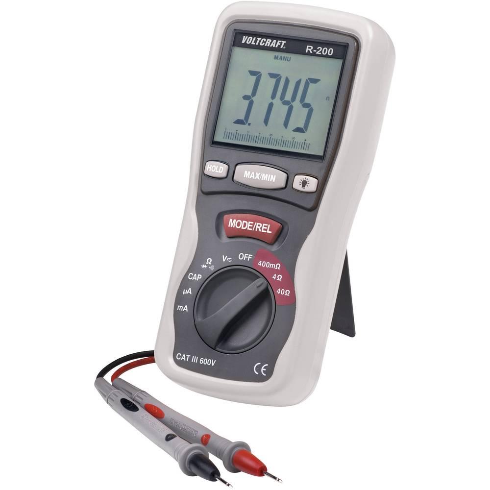 Tester komponent digitalen VOLTCRAFT R-200 kalibriran po: ISO CAT III 600 V prikazovalnik (št. mest na zaslonu): 4000