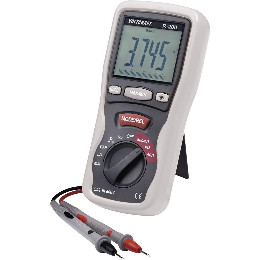 Tester komponent, digitalni VOLTCRAFT R-200 kalibracija narejena po: delovnih standardih, CAT III 600 V število znakov na zaslon