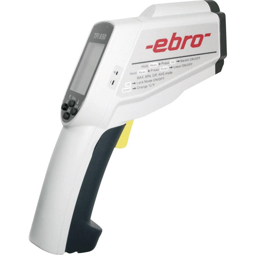 Infrardeči termometer ebro TFI 650 optika 50:1 -60 do +1500 °C kontaktno merjenje, kalibracija narejena po: ISO