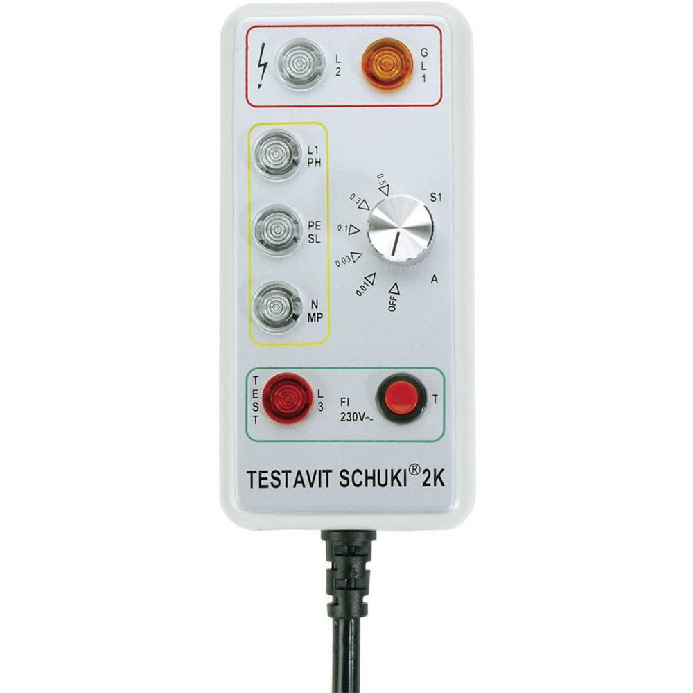 Testboy Schuki® 2K tester vtičnic z zaščitenim vtičem