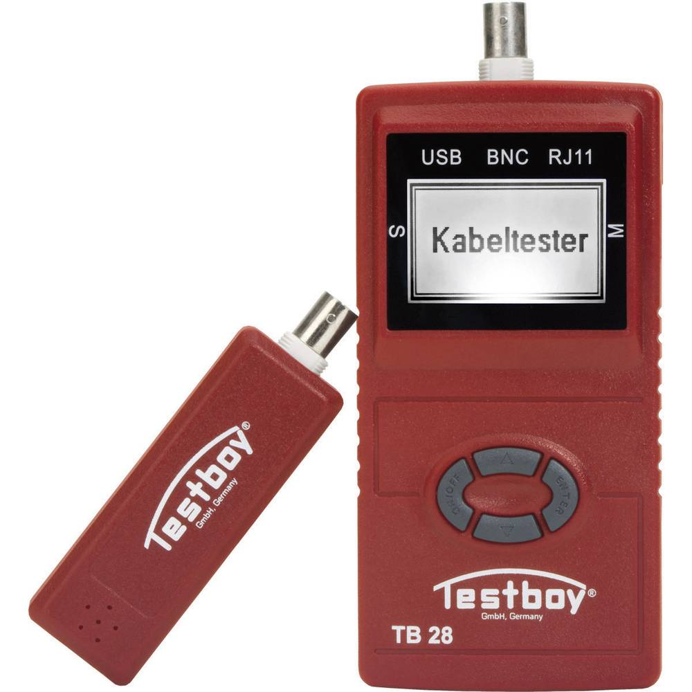 Tester kabela Testboy 28, pogodan za: USB, RJ11, RJ45, BNC