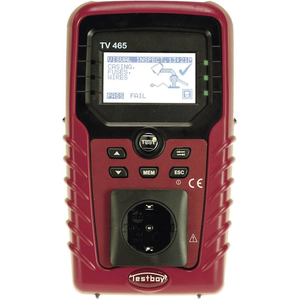 Testboy Testboy TV465 VDE-testirna naprava VDE0701-0702, BGV A3, BetrSichV, ÖVE/Norm E 8701/E 8702