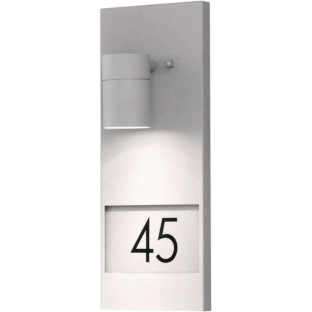 Svjetiljka s kućnim brojem Modena 7655-300 Konstsmide GU10 siva
