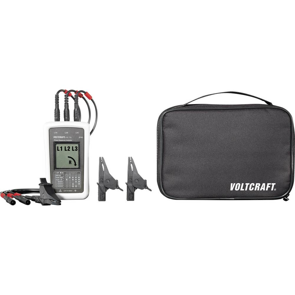 VOLTCRAFT VC35 tester vrtilnega polja CAT IV 600 V - ISO kalibriran
