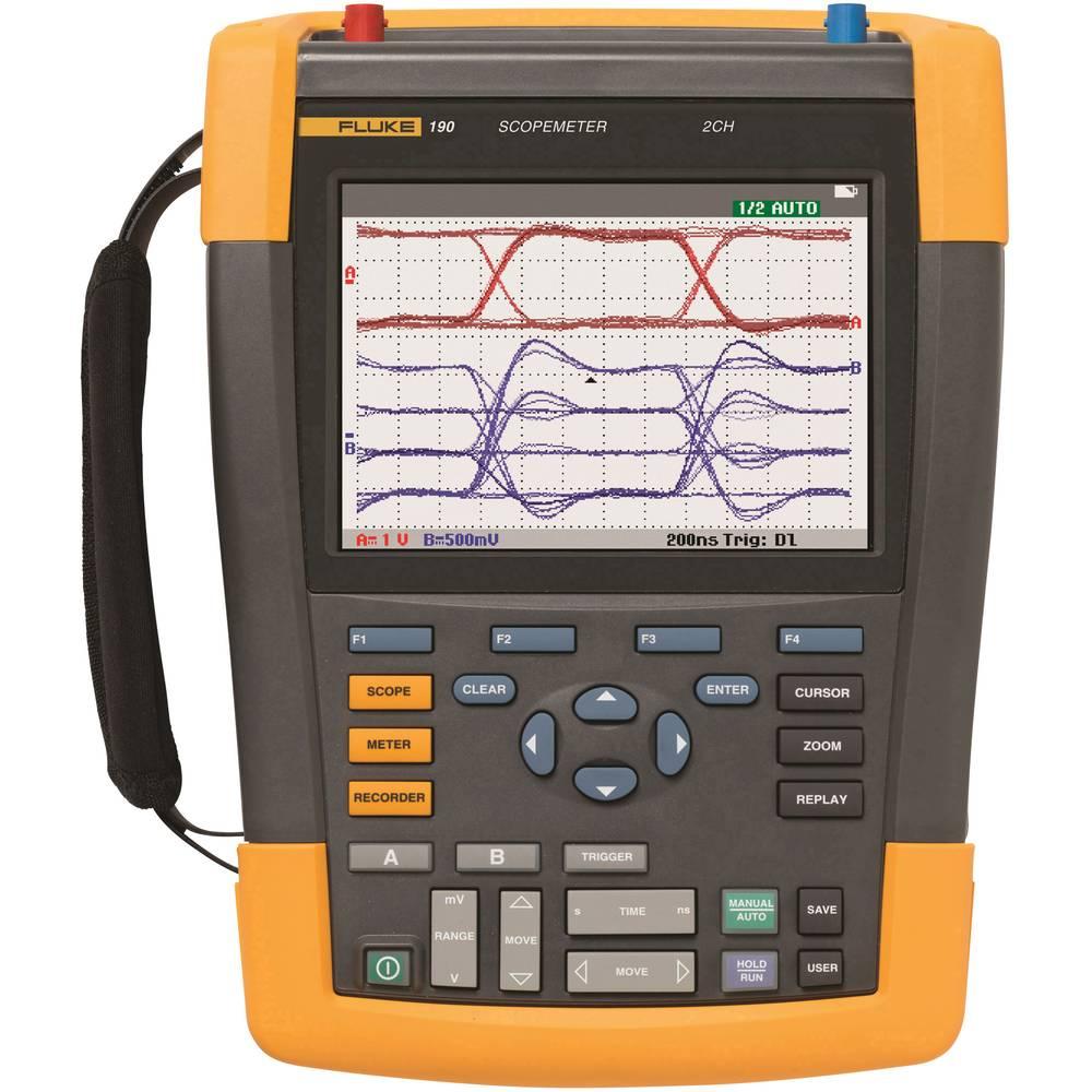 Ročni osciloskop (Scope-Meter) Fluke 190-102 100 MHz 2-kanalni, 1.25 GSa/s 10 kpts 8 Bit digitalni pomnilnik (DSO), tester kompo