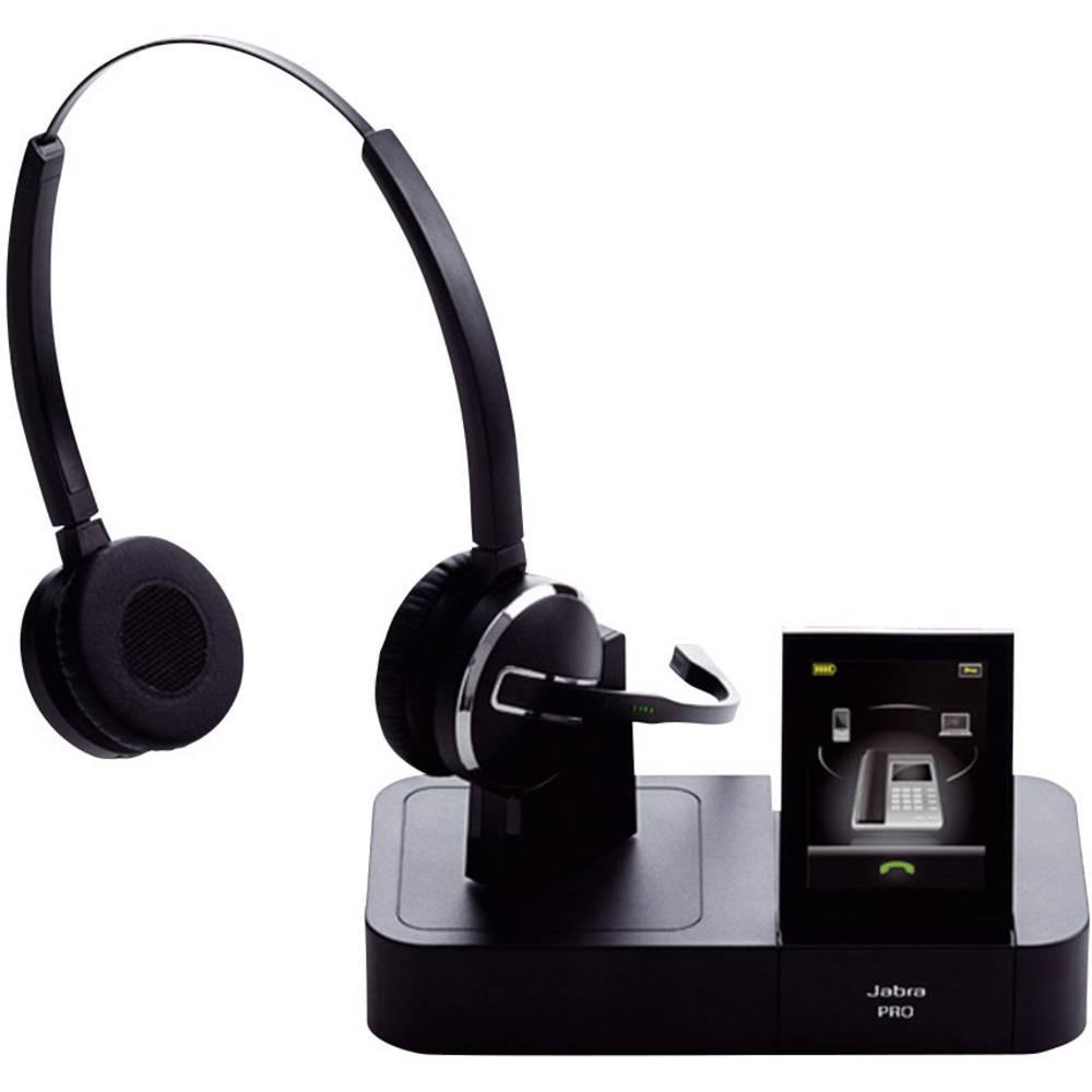 Telefonske slušalke DECT brezžične, Stereo Jabra PRO™ 9460 DUO na-ušesne slušalke črne barve