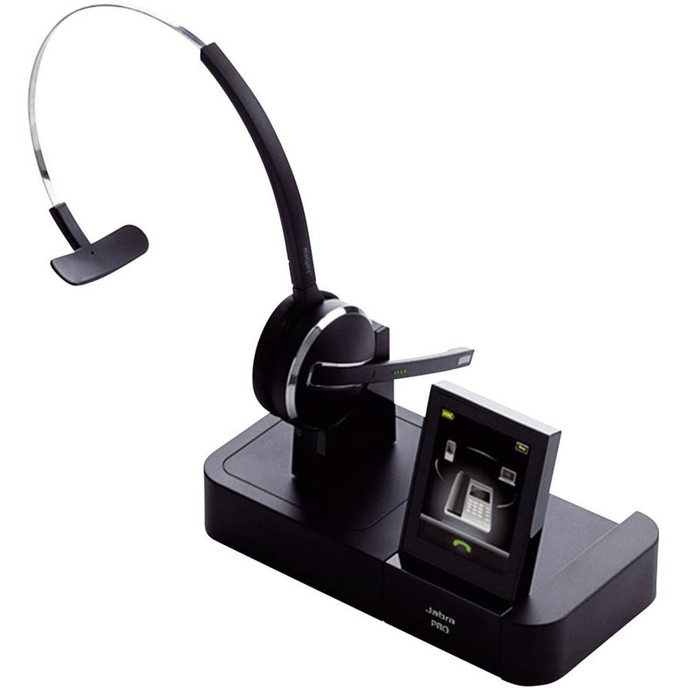Telefonske slušalke DECT brezžične, mono, Jabra PRO™ 9470 na-ušesne slušalke črne barve