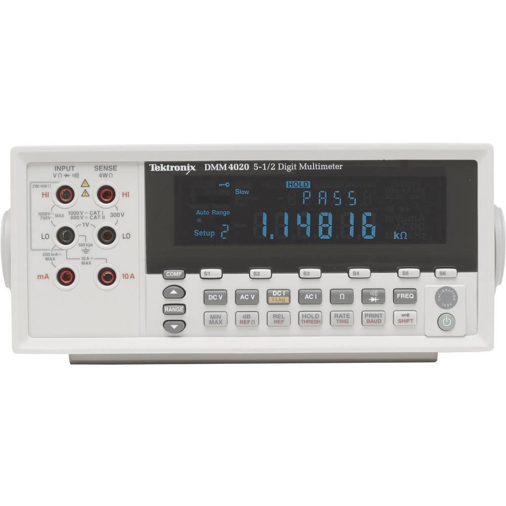 Namizni multimeter, digitalni Tektronix DMM4020 kalibracija narejena po: DAkkS CAT II 600 V število znakov na zaslonu: 20000