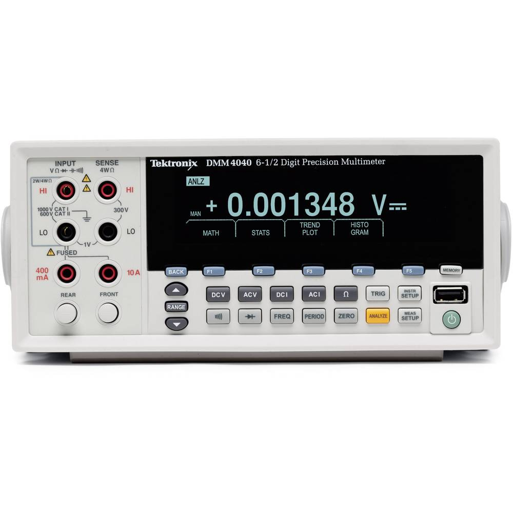 Namizni multimeter, digitalni Tektronix DMM4040 kalibracija narejena po: DAkkS CAT II 600 V število znakov na zaslonu: 200000