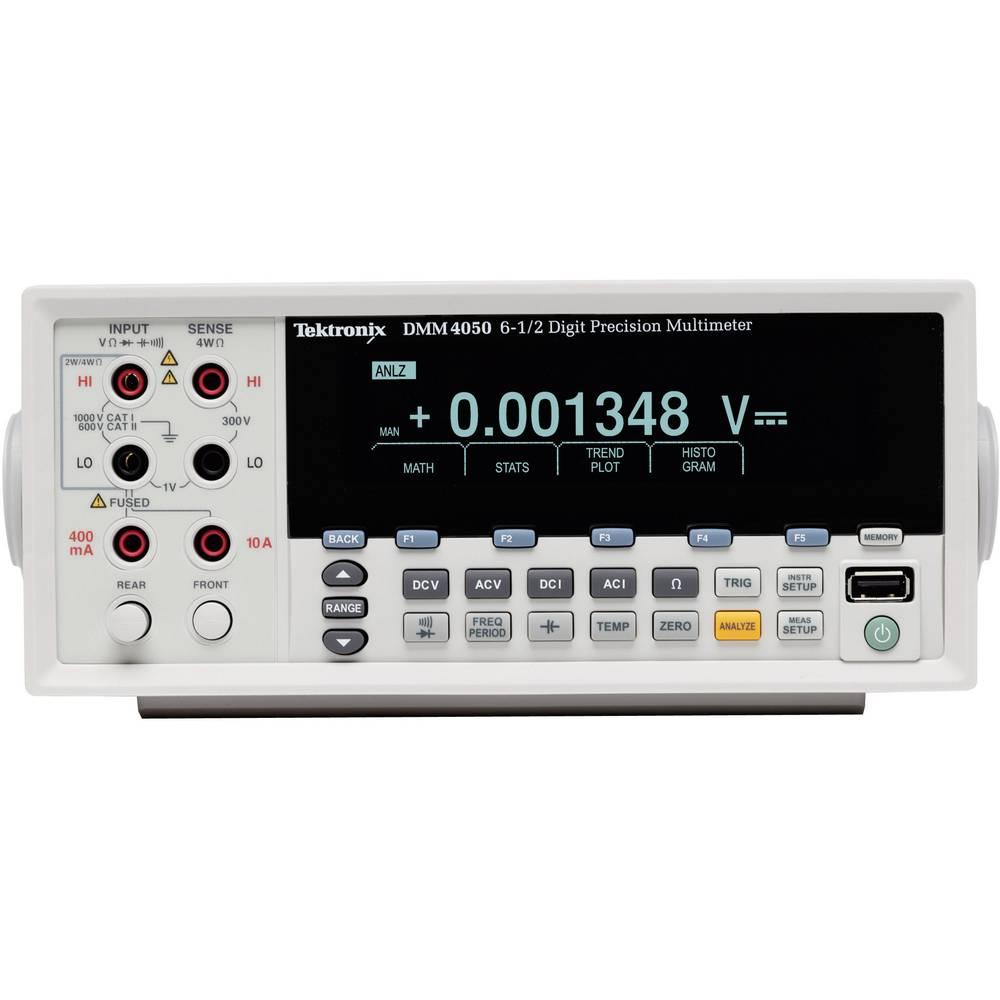Namizni multimeter, digitalni Tektronix DMM4050 kalibracija narejena po: DAkkS CAT II 600 V število znakov na zaslonu: 200000
