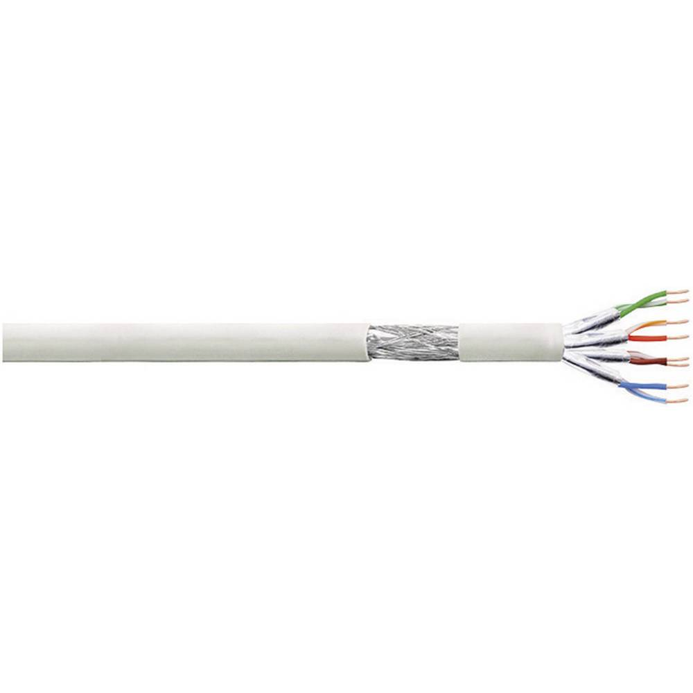 Patch kabel CAT 6 S/FTP 4 x 2 x AWG 27 siva 100 m LogiLink CP2100S