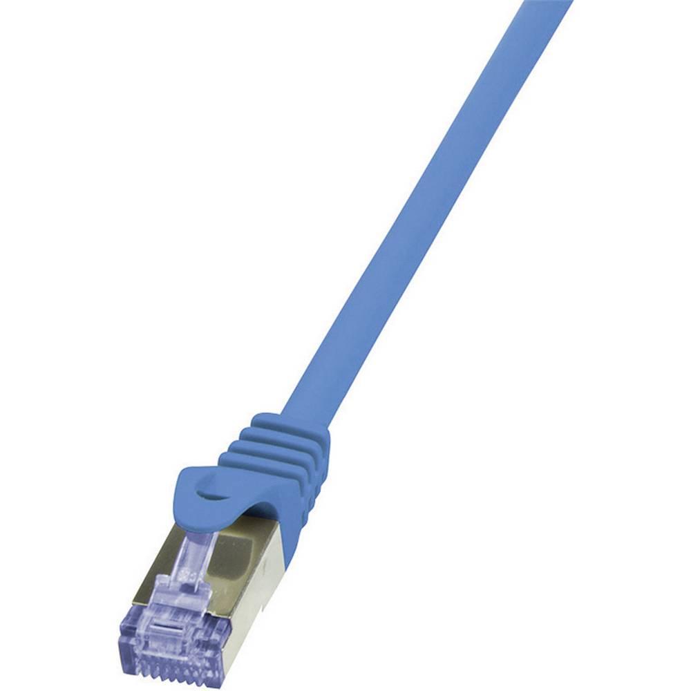 RJ45 mrežni kabel CAT 6A S/FTP [1x RJ45 utikač - 1x RJ45 utikač] 0.50 m plavi nezapaljivi, zaštićeni CQ3026S LogiLink