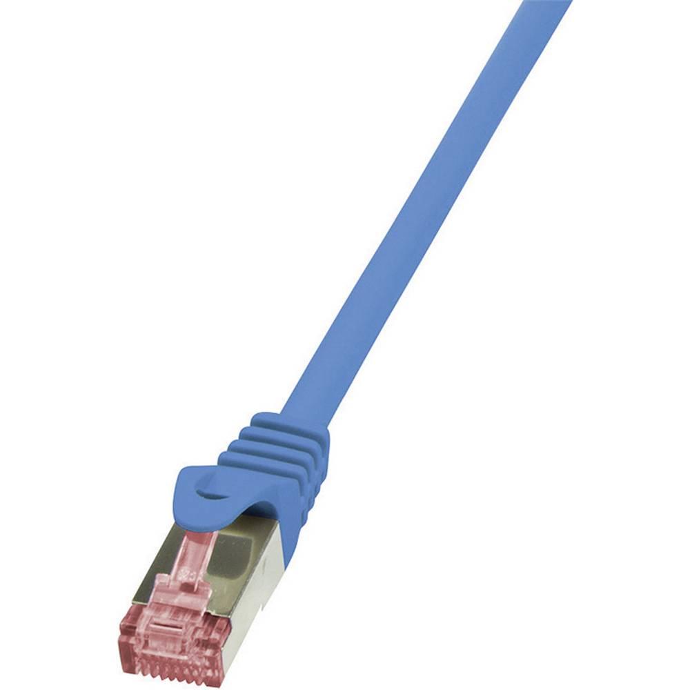 RJ45 omrežni priključni kabel CAT 6A S / FTP [1x RJ45 vtič - 1x RJ45 vtič] 0,25 m modra LogiLink CQ2016S