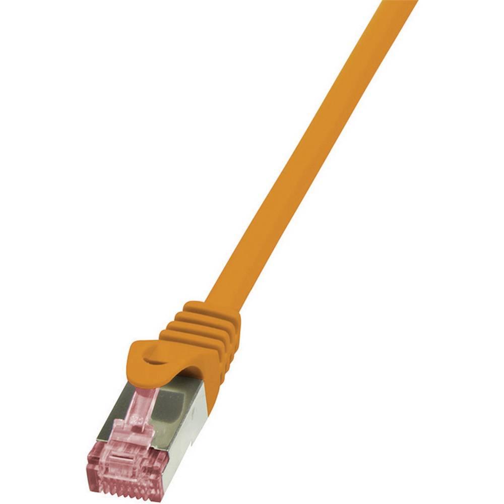 RJ45 omrežni kabel CAT 6 S / FTP [1x RJ45 konektor - 1x RJ45 konektor] 0,25 m oranžna LogiLink CQ2018S