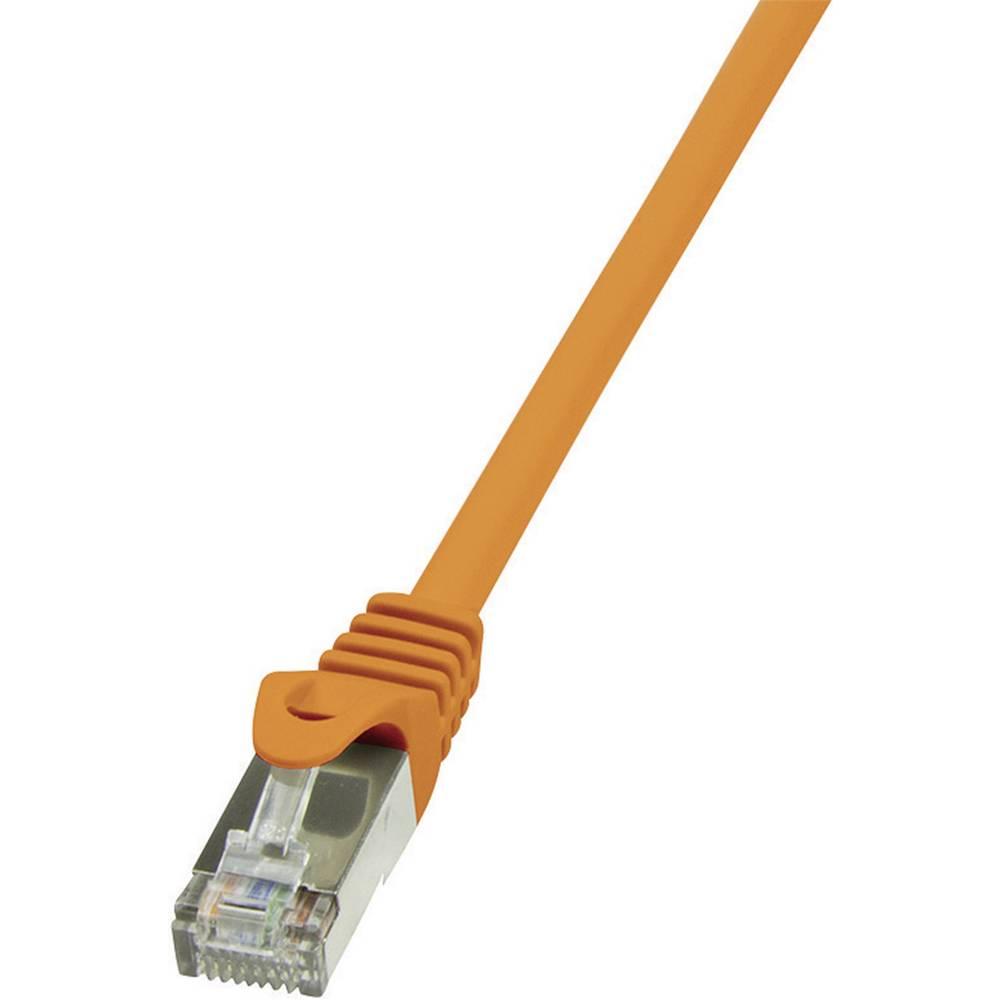 RJ45 mrežni kabel CAT 6 F/UTP [1x RJ45 utikač - 1x RJ45 utikač] 3 m narančasti zaštićeni LogiLink CP2068S
