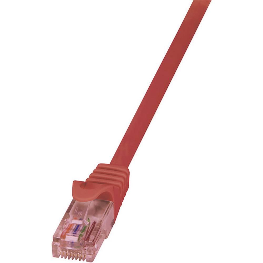 RJ45 omrežni kabel CAT 6 U/UTP [1x RJ45 konektor - 1x RJ45 konektor] 3 m rdeča LogiLink CQ2064U