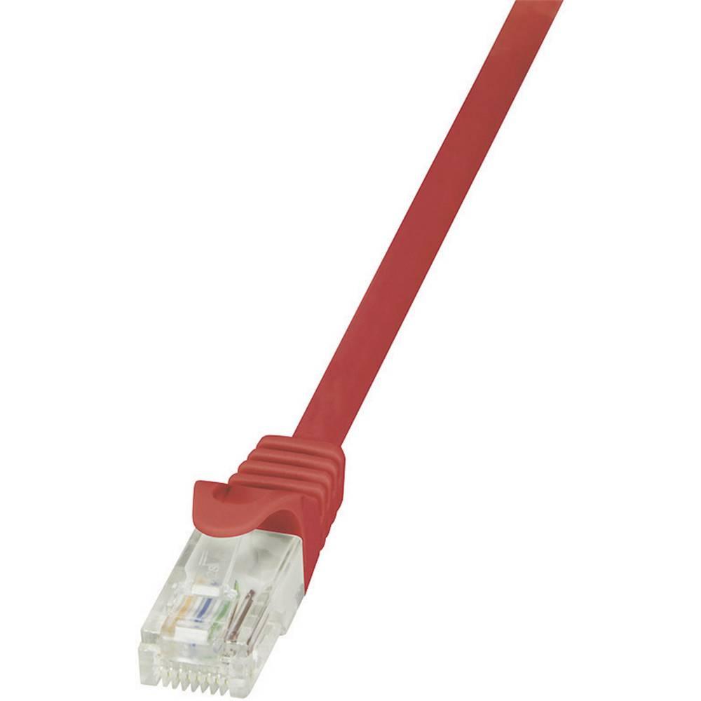 RJ45 mrežni kabel CAT 6 U/UTP [1x RJ45 utikač - 1x RJ45 utikač] 2 m crveni zaštićeni LogiLink CP2054U