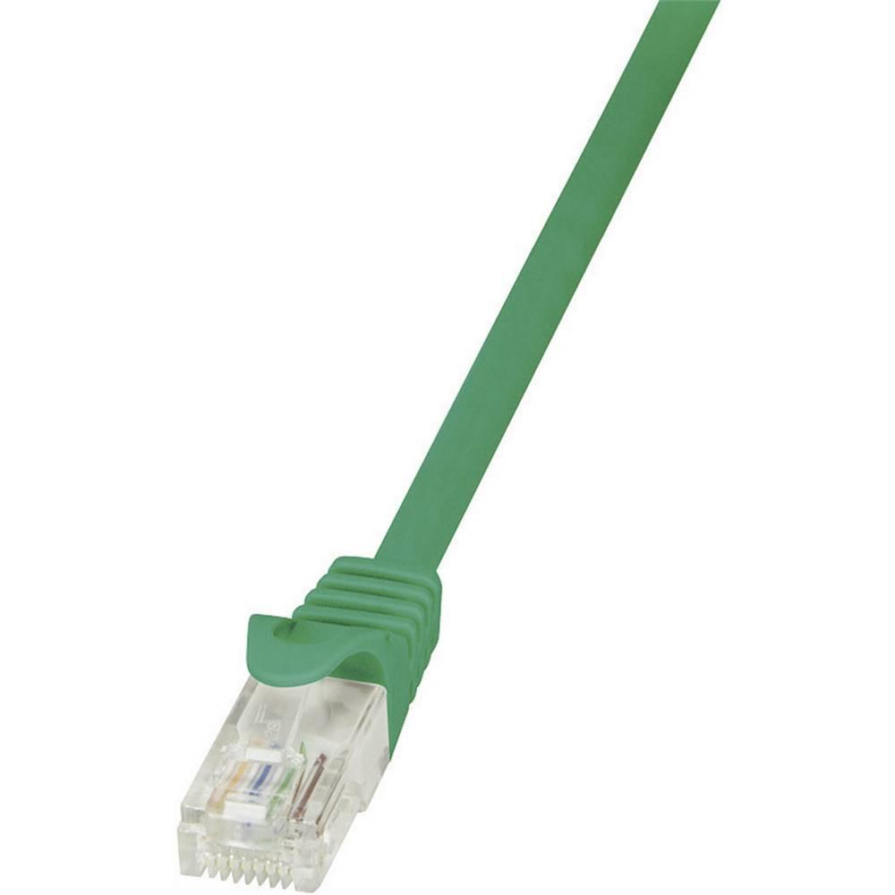RJ45 mrežni kabel CAT 6 U/UTP [1x RJ45 utikač - 1x RJ45 utikač] 1 m zeleni zaštićeni LogiLink CP2035U