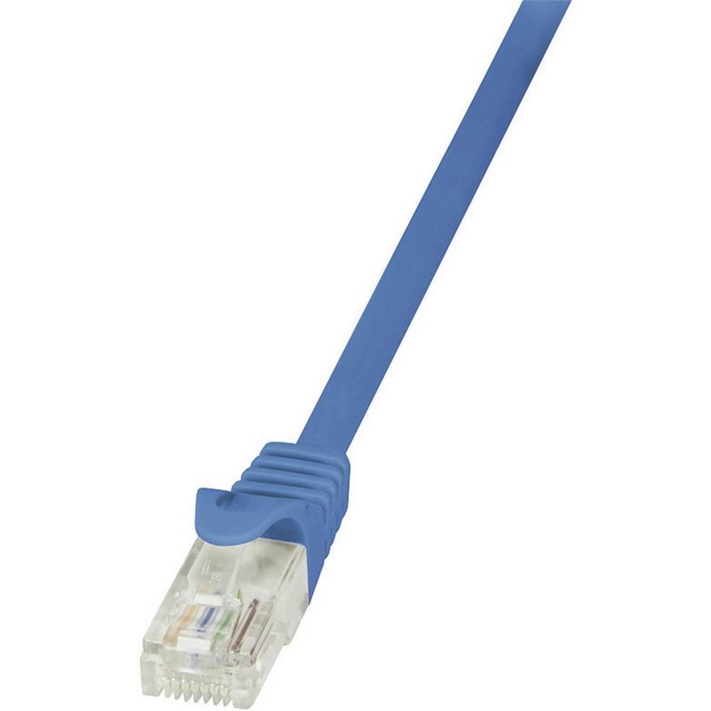 RJ45 mrežni kabel CAT 5e U/UTP [1x RJ45 utikač - 1x RJ45 utikač] 1 m plavi zaštićeni LogiLink CP1036U