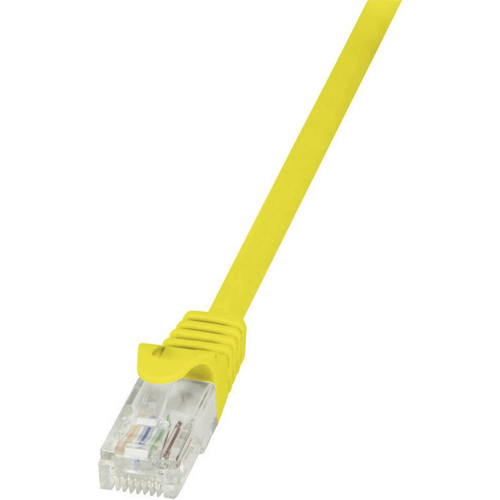 RJ45 mrežni kabel CAT 5e U/UTP [1x RJ45 utikač - 1x RJ45 utikač] 3 m žuti zaštićeni LogiLink CP1067U