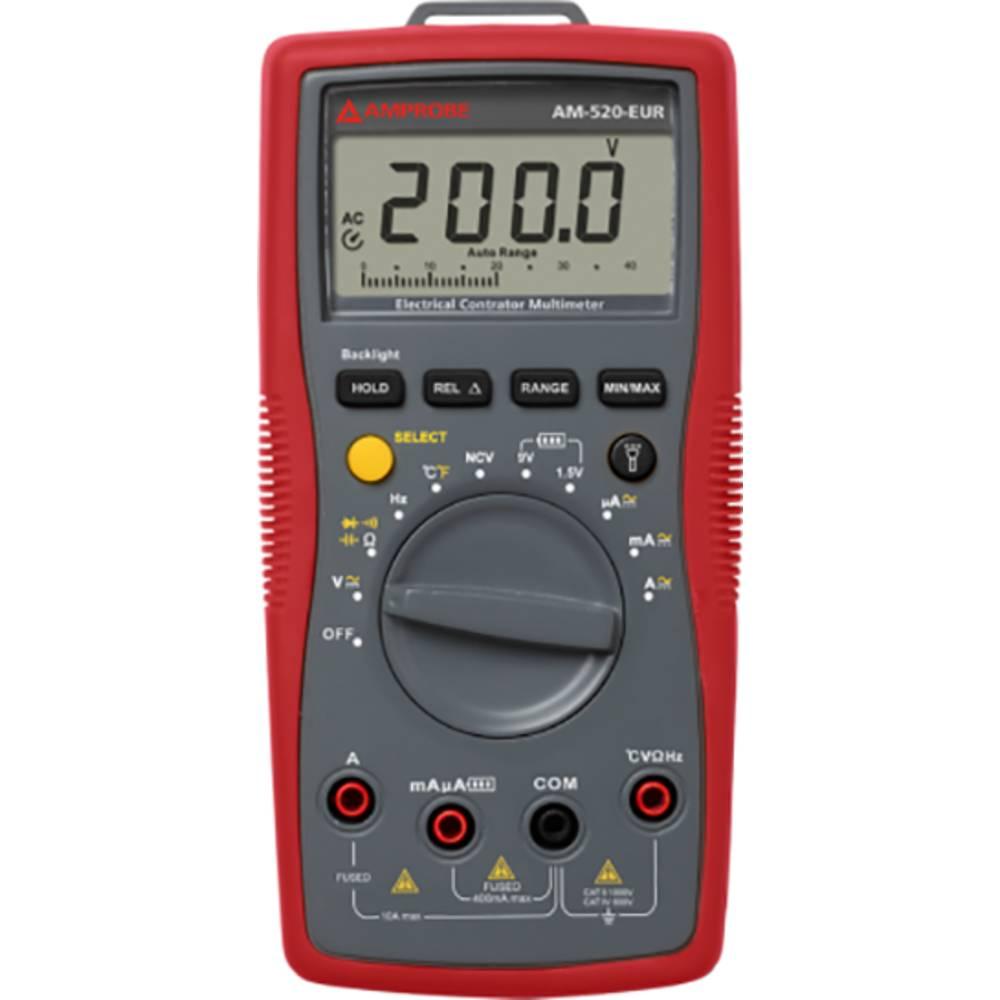 Ročni multimeter, digitalni Beha Amprobe AM-520-EUR kalibracija narejena po: delovnih standardih, CAT II 1000 V, CAT III 600 V š