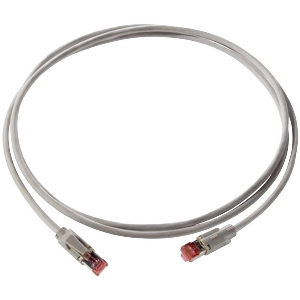RJ45 omrežni priključni kabel CAT 5e SF/UTP 5 m sive barve s tipkalno zaščito LappKabel