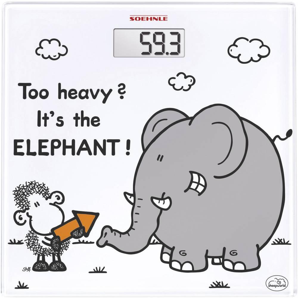 Digitalna osebna tehtnica Soehnle Sheepworld too heavy območje tehtanja (maks.)=180 kg bela