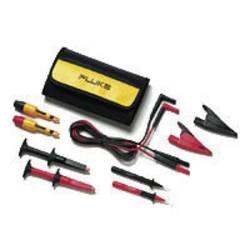 Varnostni-merilni kabelski komplet [ lamelni vtič 4 mm - lamelni vtič 4 mm] 1.50 m črne barve, rdeče barve Fluke TLK281-1