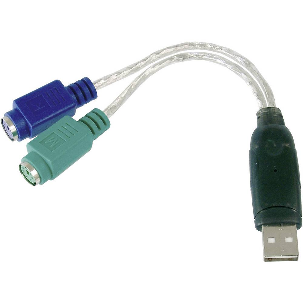 USB / PS/2 priključni kabel za tipkovnicu/miša [1x USB 2.0 utikač A - 1x PS/2 utikač] 0.10 m prozirni Digitus