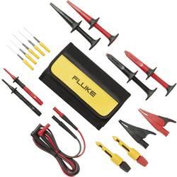 Varnostni-merilni kabelski komplet [ lamelni vtič 4 mm - lamelni vtič 4 mm] 1.50 m črne barve, rdeče barve Fluke TLK282-1