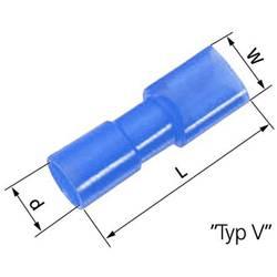 Ploščati tulec, širina: 4.8 mm, debelina: 0.8 mm 180 ° popolnoma izoliran modre barve LappKabel 61794969 100 kosov