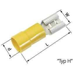Ploski vtični rokav, širina vtiča: 6.3 mm, debelina vtiča:: 0.8 mm 180 ° delno izoliran, rumene barve LappKabel 63101110 50 koso
