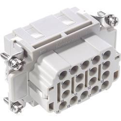 Tilslutningsindsats EPIC® H-EE 18 10183400 LappKabel Samlet poltal 18 + PE 10 stk