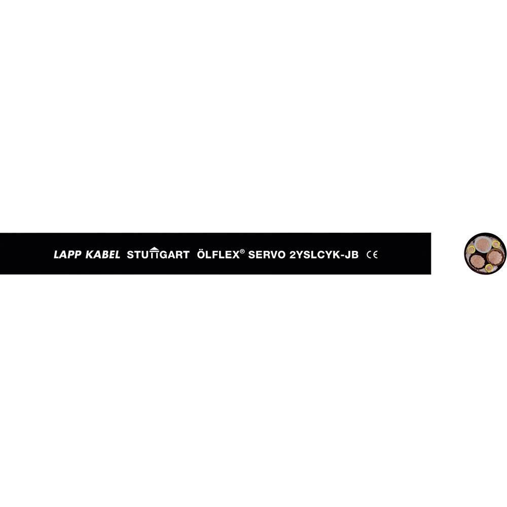 Kabel za krmiljenje servo motorjev ÖLFLEX® SERVO 2YSLCY-JB 3 x 2.5 mm + 3 G 0.5 mm črne barve LappKabel 0036440 100 m