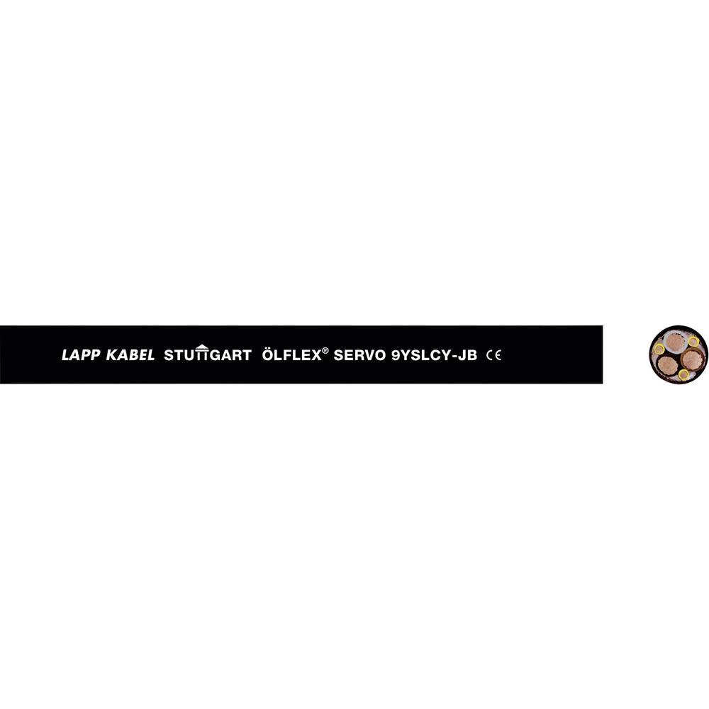 Kabel za krmiljenje servo motorjev ÖLFLEX® 9YSLCY-JB 3 G 2.5 mm + 0.5 mm črne barve LappKabel 0037016 50 m