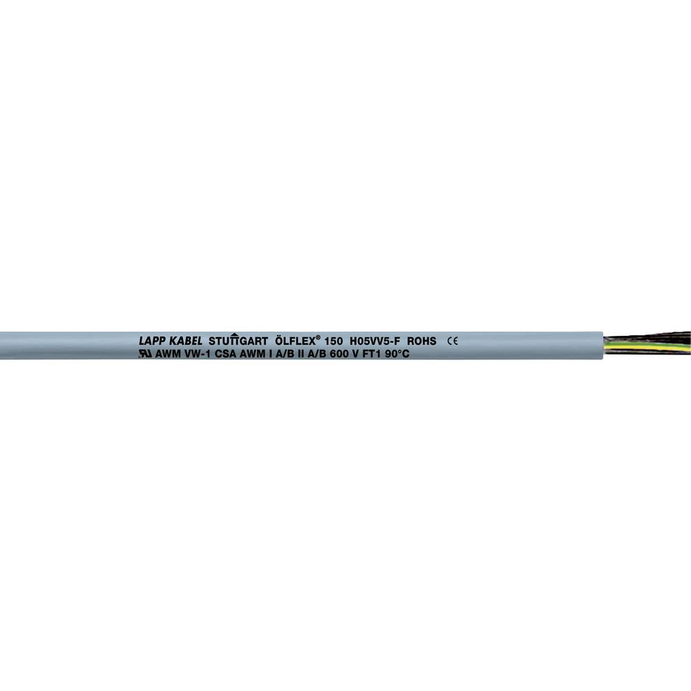 Krmilni kabel ÖLFLEX® 150 4 G 1 mm sive barve LappKabel 0015204 75 m