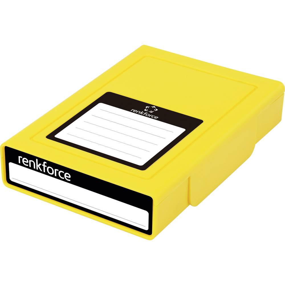 Kutija za pohranjivanje univerzalnih tvrdih diskova Renkforce HY-EB-8500 žuta