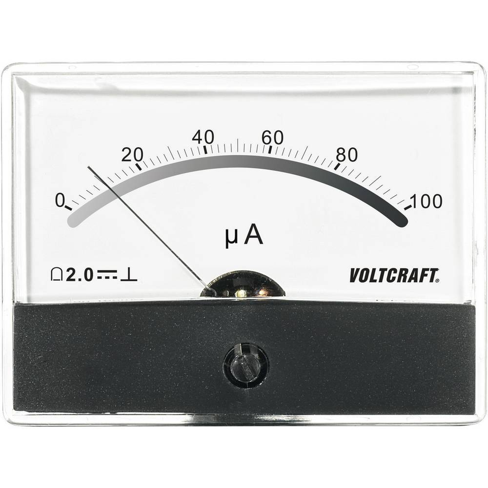 VOLTCRAFT AM-86X65/100µA vgradni merilnik AM-86X65/100µA/DC 100 µA vrtljiva tuljava