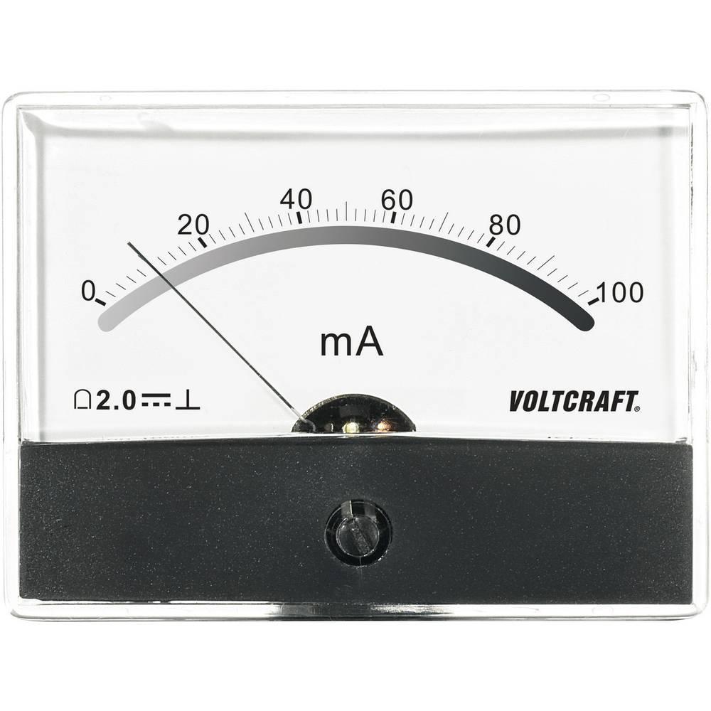 VOLTCRAFT AM-86X65/100MA ugradbeni mjerni uređaj AM-86X65/100mA/DC 100 mA pomični svitak