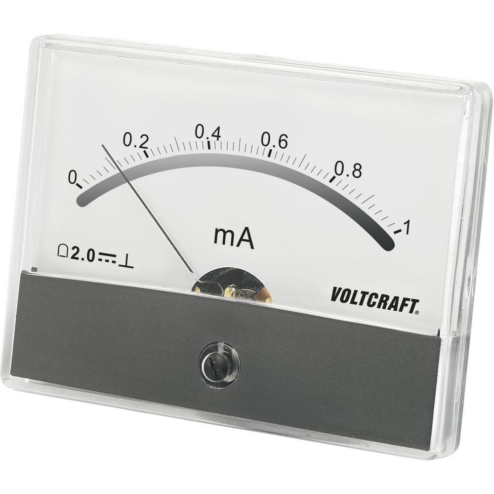 VOLTCRAFT AM-86X65/1MA ugradbeni mjerni uređaj AM-86X65/1mA/DC 1 mA pomični svitak