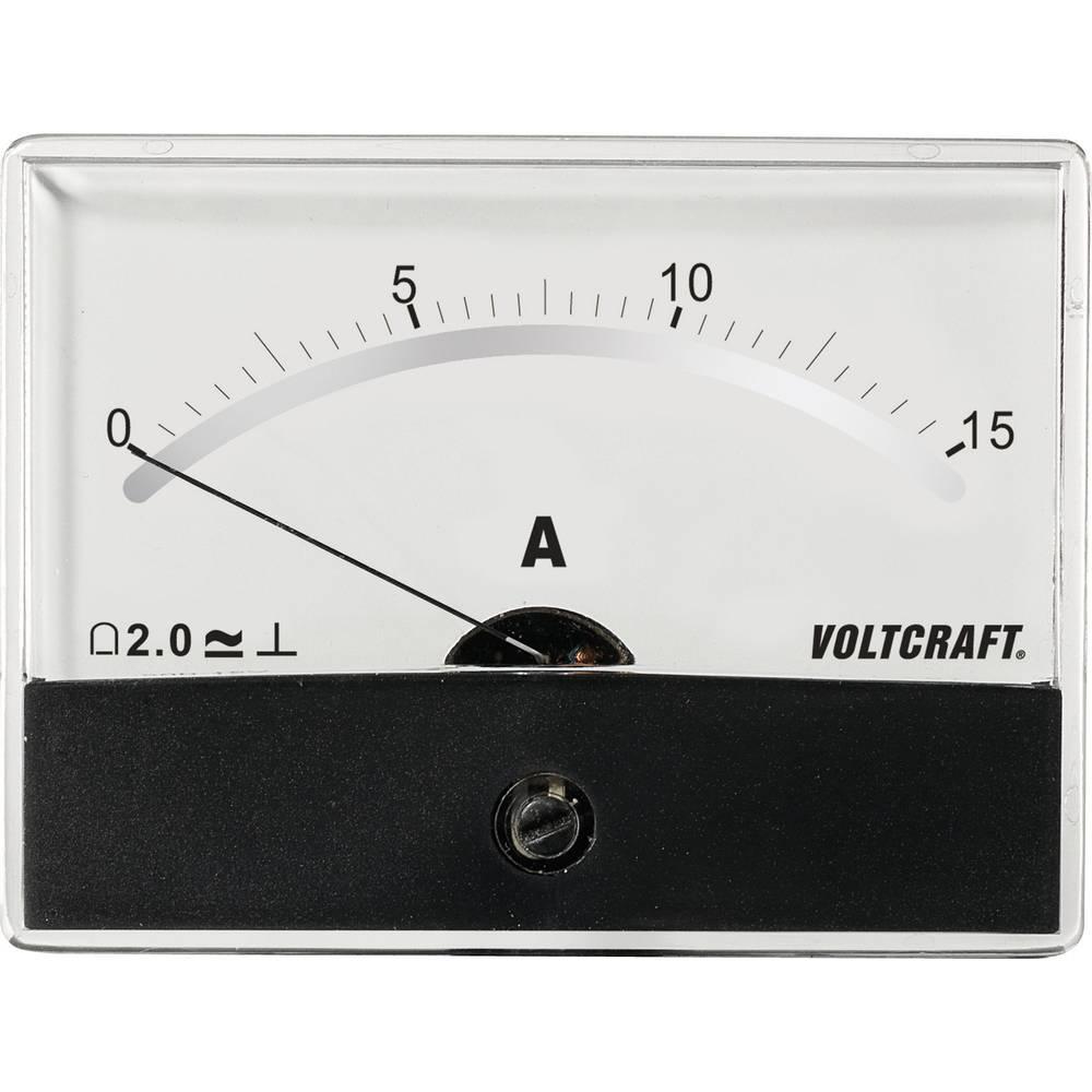 VOLTCRAFT AM-86X65/15A/DC ugradbeni mjerni uređaj AM-86X65/15A/DC 15 A pomični svitak